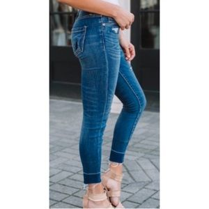 Blank NYC Crybaby Released Hem Skinny Jeans